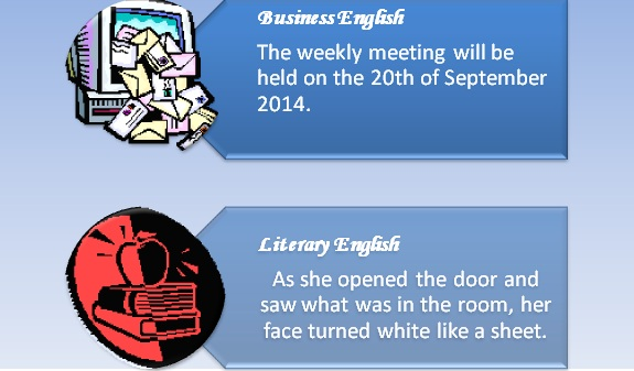 Difference Between Business English and Literary English