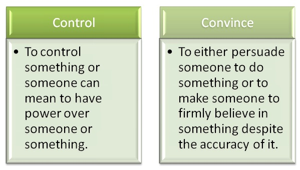 Difference Between Control and Convince