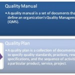 Difference Between Quality Manual and Quality Plan