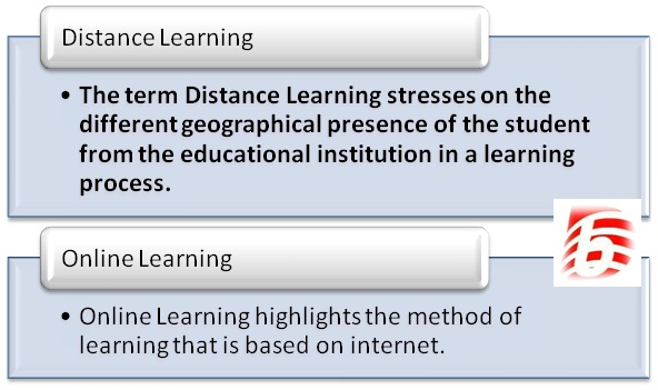 Difference between distance learning and online learning