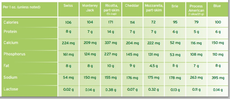 Cheese vs Milk