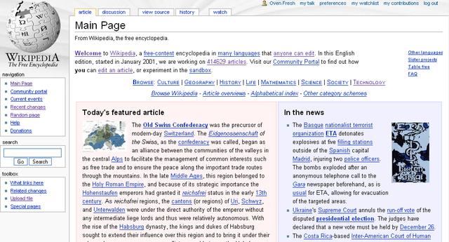 Wikipedia vs Google