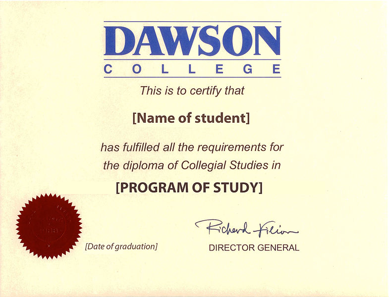 What is a college diploma?
