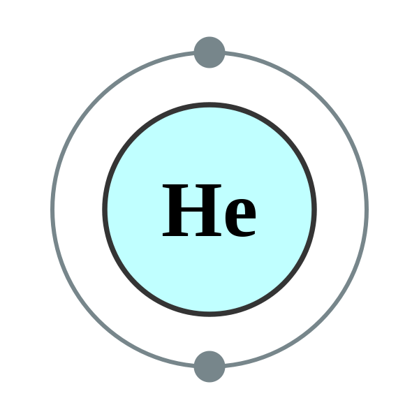 bohr model of helium