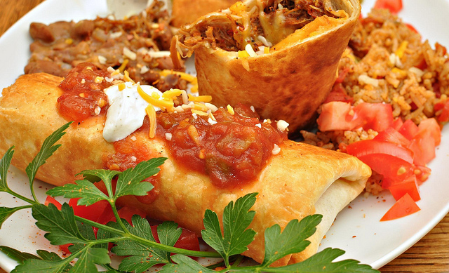 Key Difference - Burrito Chimichanga Enchilada Fajita vs Taco