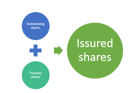 Difference between issued and outstanding shares