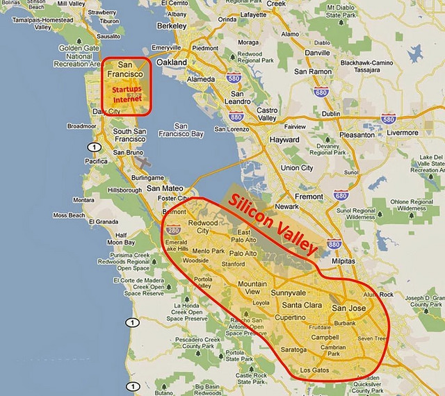 Key Difference - Bay Area vs Silicon Valley