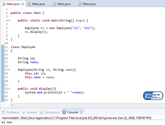 Difference Between this and super in Java