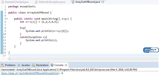 Key Difference Between Checked and Unchecked Exception in Java